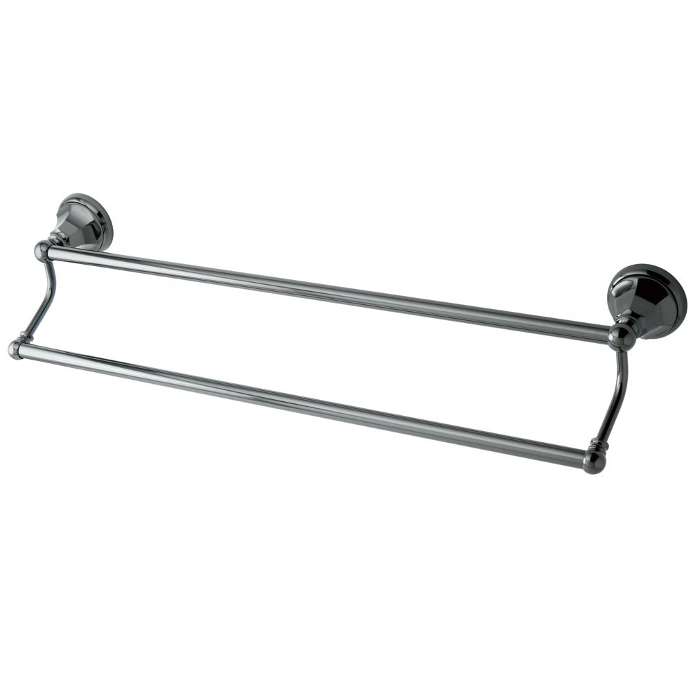 Kingston Brass BA4813C Metropolitan Double Towel Bar Polished Chrome