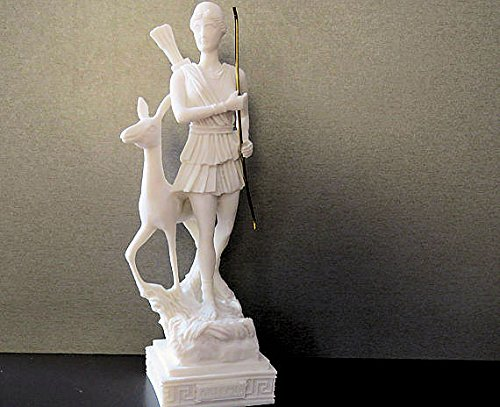 Statue Greek/Roman Goddess Artemis/Diana Hunter with bow and