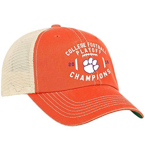 Top of the World Clemson Tigers 2018-2019 Football National Champions Orange Mesh Adj. Hat Cap