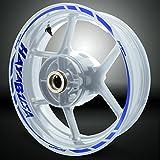 Suzuki Hayabusa Reflective Blue Motorcycle Rim Wheel Decal Accessory Sticker