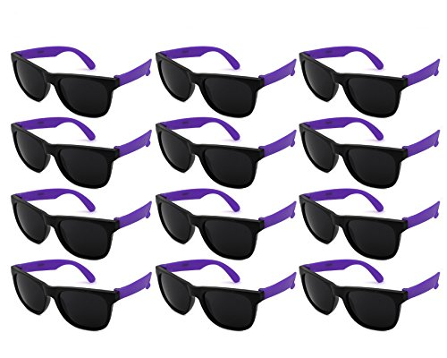 - Edge I-Wear 12 Pack Fun Party Sunglass Neon Sunglasses for Kid Party Favors 80's style glasses Wholesale 9402RA/PP-12