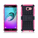 JAMMYLIZARD [ Samsung Galaxy A5 (6) 2016 Case ] ALLIGATOR Heavy Duty Double Protection Rugged Back Cover, Hot Pink