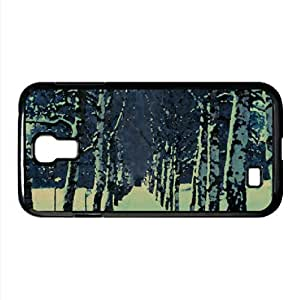 Birch Trees Alley, Winter Watercolor style Cover Samsung Galaxy S4 I9500 Case (Winter Watercolor style Cover Samsung Galaxy S4 I9500 Case)
