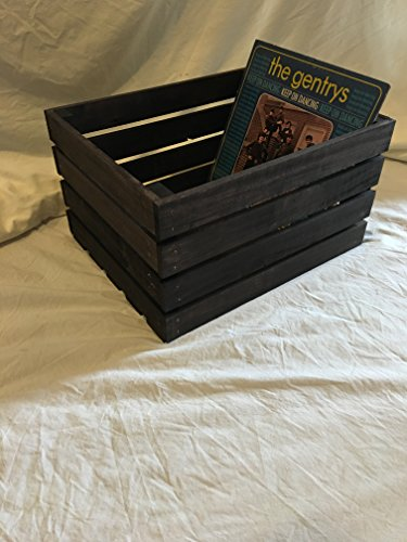 Vintage Stained Rustic Wood Crate (Wood Crate Shelf compare prices)