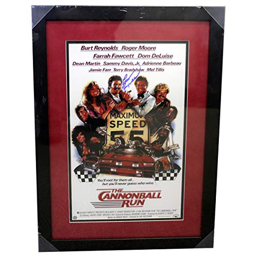 aphed Signed 10 1/2x16 'The Cannonball Run' Framed Photo - Steiner ()
