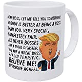 Wampumtuk Dear Boss, Donald Trump, You're Very Special, Completely Fair. Really Terrific, Believe Me, Everyone Agrees. Funny Coffee Mug 11 Ounces Inspirational And Motivational