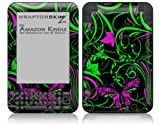 Twisted Garden Green and Hot Pink - Decal Style Skin fits Amazon Kindle 3 Keyboard (with 6 inch display)