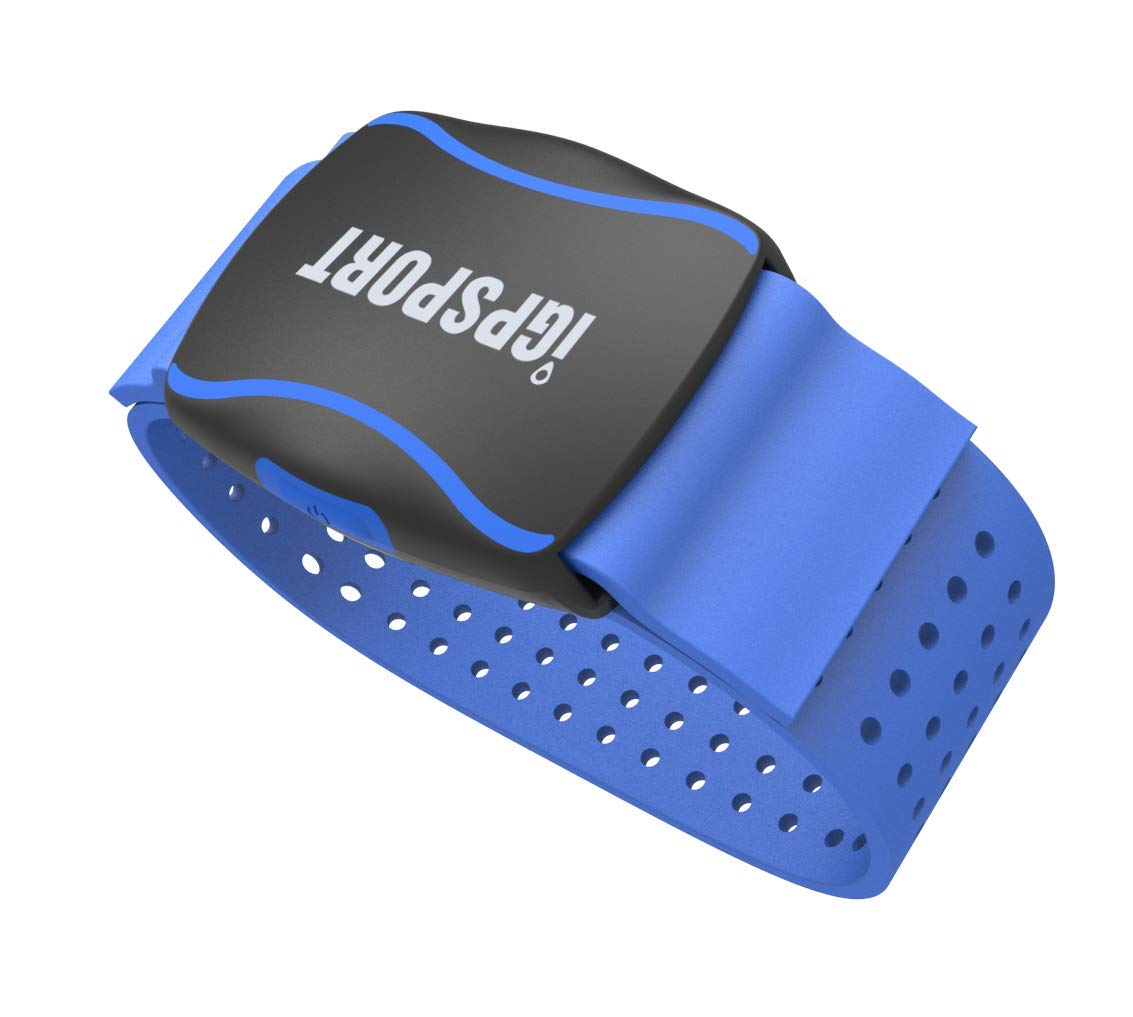 and Bluetooth Black iGPSPORT Heart Rate Monitor Armband HR60 Optical Heart Rate Sensor with ANT