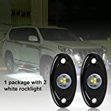 Auto Safety LED Rock Light JEEP Off-road Truck Boat Under body Glow Trail Rig Lamp Waterproof (2pcs)
