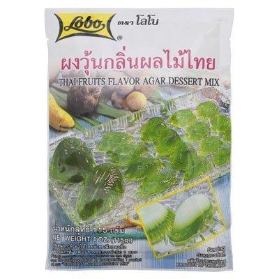 Lobo Thai Fruits Flavor Agar Dessert 115g. (Pack of 2) by Lobo