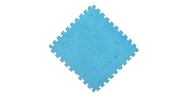 MIRRAY 30 * 30 cm Niños Alfombra Espuma Estera Puzzle EVA Shaggy Velvet Baby Eco Floor 6 Colores: Amazon.es: Hogar