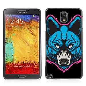 CQ Tech Phone Accessory: Carcasa Trasera Rigida Aluminio Para Samsung Galaxy Note 3 N9000 - Neon wolf Painting