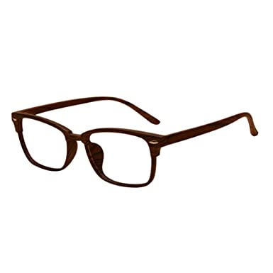 c8c949c820a Haodasi Vintage TR90 Lightweight Myopia Anti-fatigue Glasses Wood Pattern  Square Slim Frame Nearsighted Eyeglasses Strength -1.00~-6.00 (These are  not ...