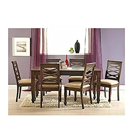 Solid Wood Dining Table Set 6 Seater Contemporary Wooden Dinner For Large Families In