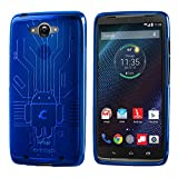 Droid Turbo Case, Cruzerlite Bugdroid Circuit TPU Case Compatible with Compatible with Motorola Moto Droid Turbo XT1254 (Verizon) - Blue