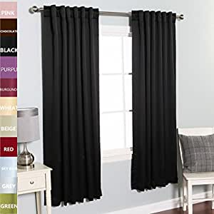Twopages Solid Blackout Curtain Panels Drapes