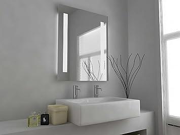 espejo para bao diseo moderno iluminado con sensor almohadilla antivaho y conector para afeitadora c with espejo para bao moderno