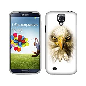 Fincibo (TM) Samsung Galaxy S 4 I9500 I9505 I337 Premium Hard Plastic Snap On Protector Cover Case - Eagle, Front And Back