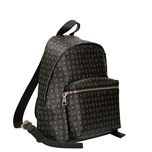 Pollini Heritage backpack Tapiro Pvc calf leither black
