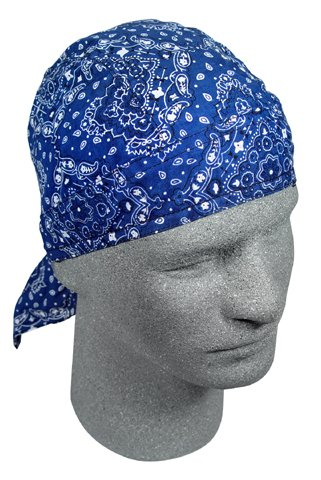 FLYDANNA; 100% COTTON, NAVY PAISLEY, Manufacturer: Zan Headgear, Manufacturer Part Number: Z111-AD, Stock Photo - Actual parts may vary.