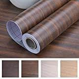 "Art3d Decorative Contact Paper Countertops - Self Adhesive Shelf Drawer Liner - Wood Contact Wallpaper - Waterproof, Peel and Stick, Easily Removable (17.71"" x 78.74"", Walnut 7)"