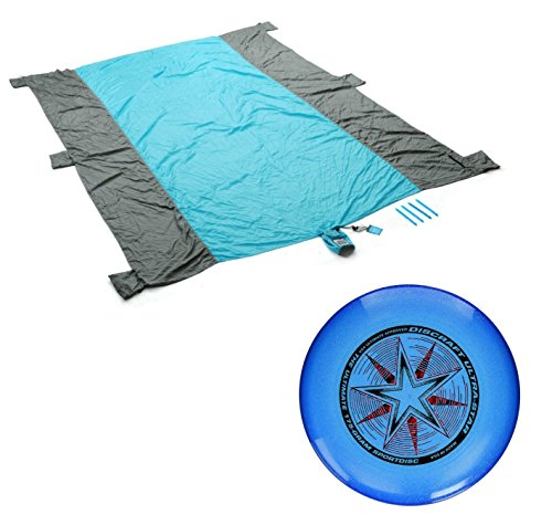 Beach Blanket Nylon, Picnic Blanket, Outdoor Play Blanket by Leverage Now with Discraft 175 gram Ultra Star Sport - Sunglasses Regulation