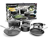 GRANITEROCK 10 Piece Cookware Set, Scratch-Proof, Nonstick Granite-Coated, PFOA-Free As Seen On TV