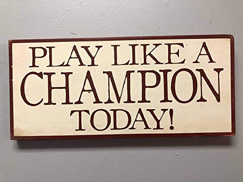 Puernash Notre Dame Notre Dame Play Like A Champion Notre Dame Football Xmas Wood Signs Design Hanging Gift Decor for Home Coffee House Bar 5 x 10 Inch