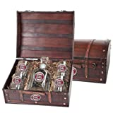 South Carolina Gamecocks Capitol Decanter Wood Chest Set