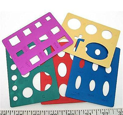 Lortone Lapidary Templates Cabbing Cabochon Aluminum Circle Cross Square 549-010 U.S No. 1 Seller! by Unbranded (Image #2)