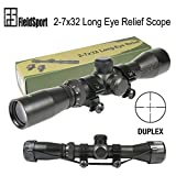 TACFUN FSI Mosin Nagant 2-7×32 Long Eye Relief Scope Fits Mosin Nagant 1891/30 M39 For Sale