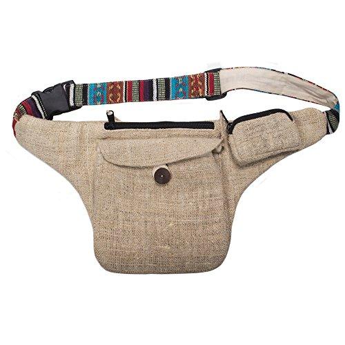 - Kamama Natural Hemp Hip Bag Fanny Waist Pack