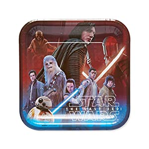 American Greetings Star Wars: The Last Jedi Party Supplies, Disposable Paper Dinner Plates, 8-Count