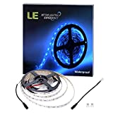 LE 16.4ft 300 Units SMD 5050 LED Flexible Light Strip, Blue, 12V, Waterproof, Outdoor Indoor Home Garden Kitchen Bar Party Christmas Holiday Festival Celebration Decoration