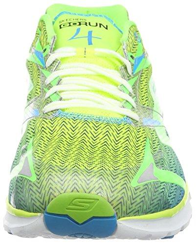 Skechers Go Run 4 - Zapatillas de running para hombre Verde (Vert Citron/Bleu)