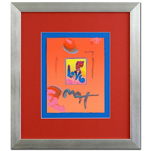 PETER MAX ORIGINAL Signed mixed media ACRYLIC PAINTING LOVE FRAMED COA - Peter Max Painting