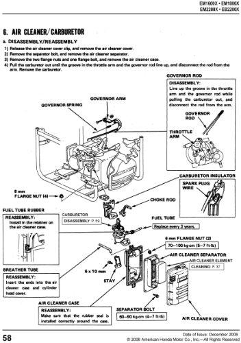 51VlKBjtOqL honda eb2200 eb2500 em1600 em1800 em2200 em2500 generator service  at readyjetset.co