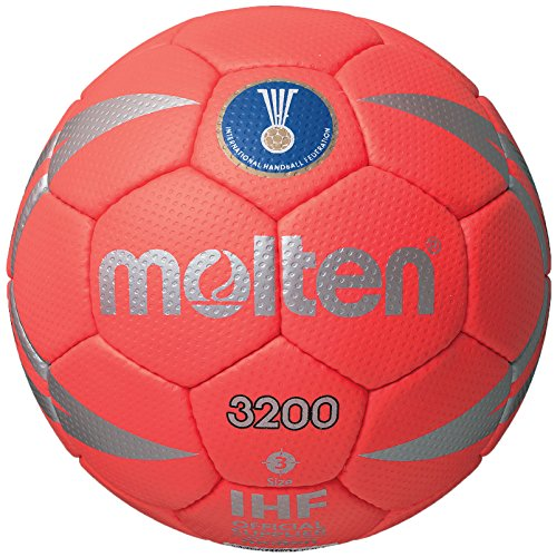 Molten Competition Handball, Red/Silver, Size 3 (Team Handball)