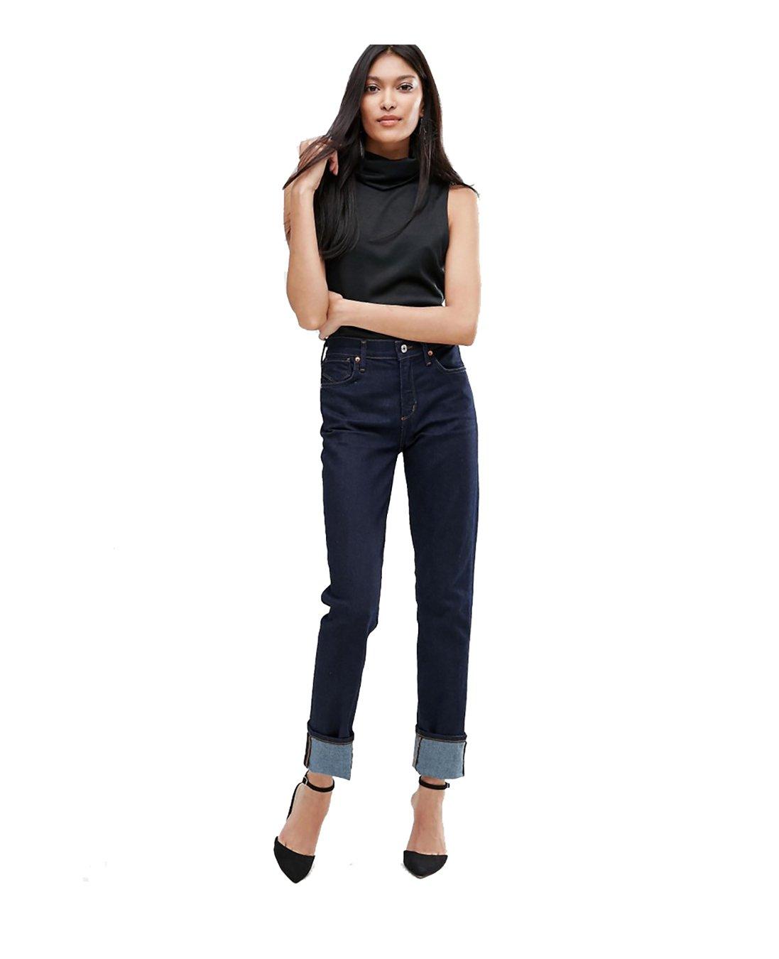 A Gold E Women's Bella High-Rise Slim Jeans (28, Venice)