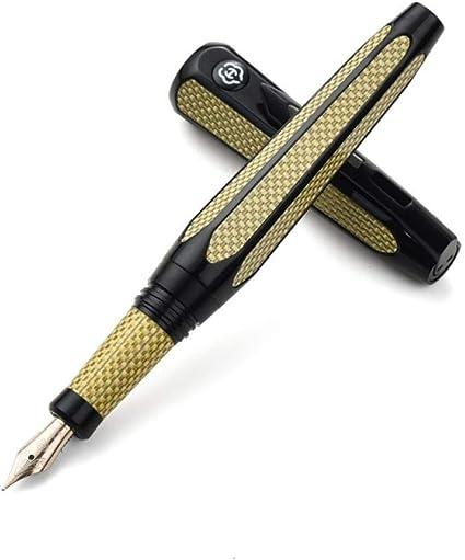 Space Pen 10K Gold Pen Ink Pen Hombres Adultos Caligrafía Hard Pen Calligraphy Set De Regalo Rotary Pen Cap Pack De 1: Amazon.es: Oficina y papelería