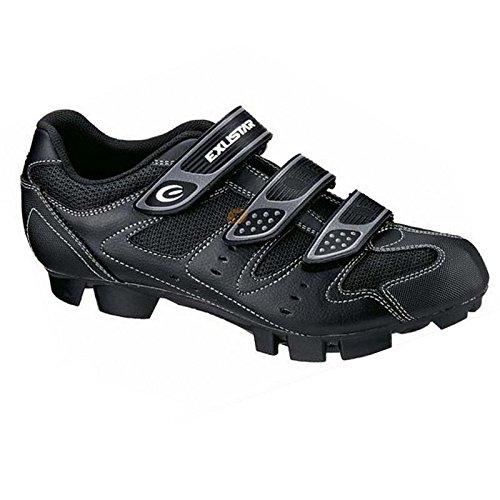 Exustar, Scarpe da ciclismo uomo nero nero, nero (nero), 38