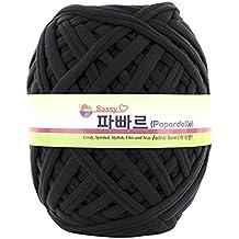 Papardelle Sassy Fabric Tshirt Yarn (Weaved cotton), Chacoal