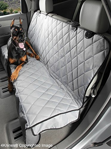 4Knines Luxury Dog Seat Cover With Hammock - Grey Extra Larg
