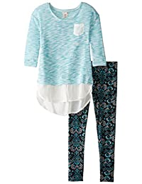 One Step Up girls Two-piece Set With Sweater Top With Leggings