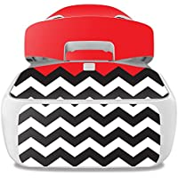 Skin For DJI Goggles – Red Chevron | MightySkins Protective, Durable, and Unique Vinyl Decal wrap cover | Easy To Apply, Remove, and Change Styles | Made in the USA