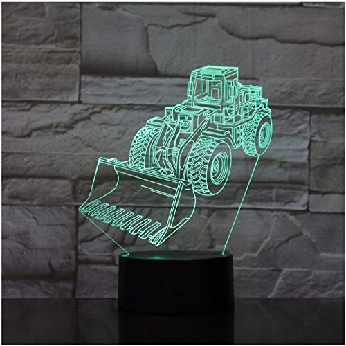 Halloween Scrapper Cart 3D Lampe Illusion RGB Nachtlicht LED Birne Multi-color Flash Fade Holiday Spaten Maschine…