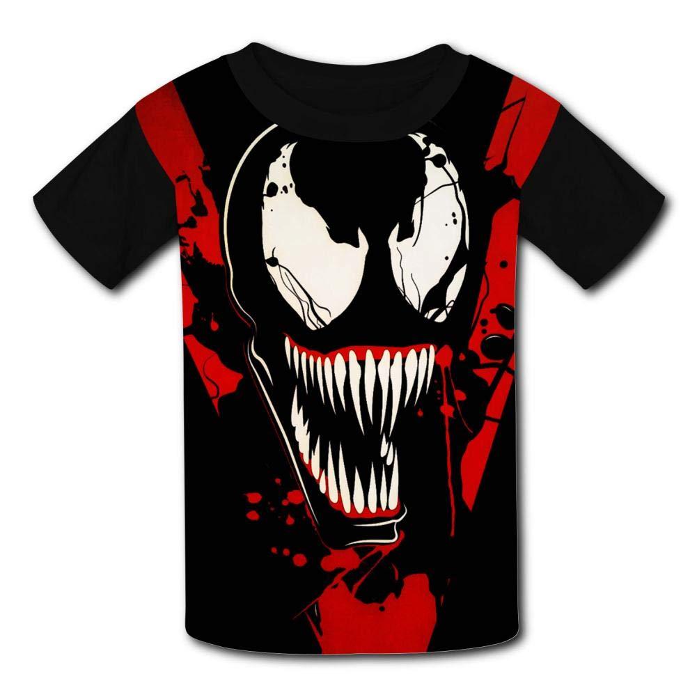 Red-V Ve-Nom Kids T-Shirts Short Sleeve Tees Summer Tops for Youth//Boys//Girls