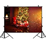 Allenjoy 7x5ft Christmas eve Scene Photography Photo Backdrop Background Xmas New Year Living Room Tree Gifts Night Holiday Party