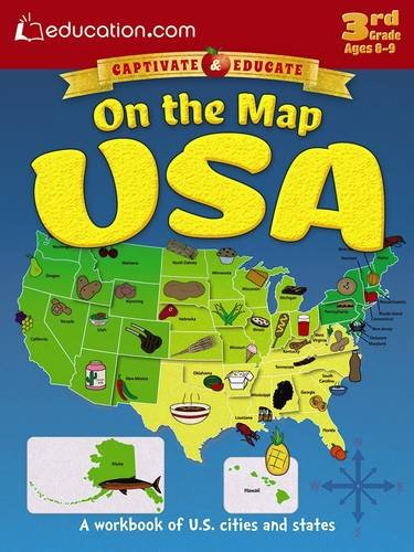 On the Map USA: A workbook of U.S. cities and states (Reading Latitude And Longitude On A Map)