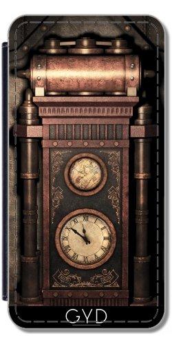 Leder Flip Case Tasche Hülle für Apple Iphone 7 Plus / 8 Plus - Steampunk-Generator Bronze by Britta Glodde